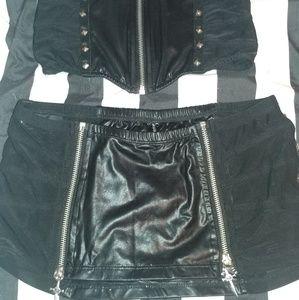 Lip Service skirt & waist cincher set.
